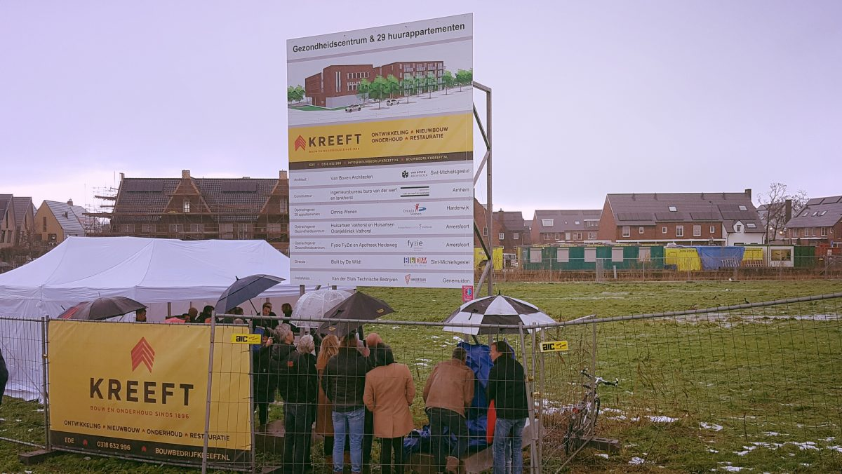 Officiële start bouw gezondheidscentrum en appartementencomplex Amersfoort